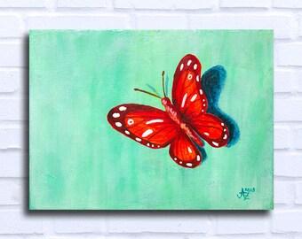 Articles Similaires à Tableau Papillon Peinture Acrylique Peinture