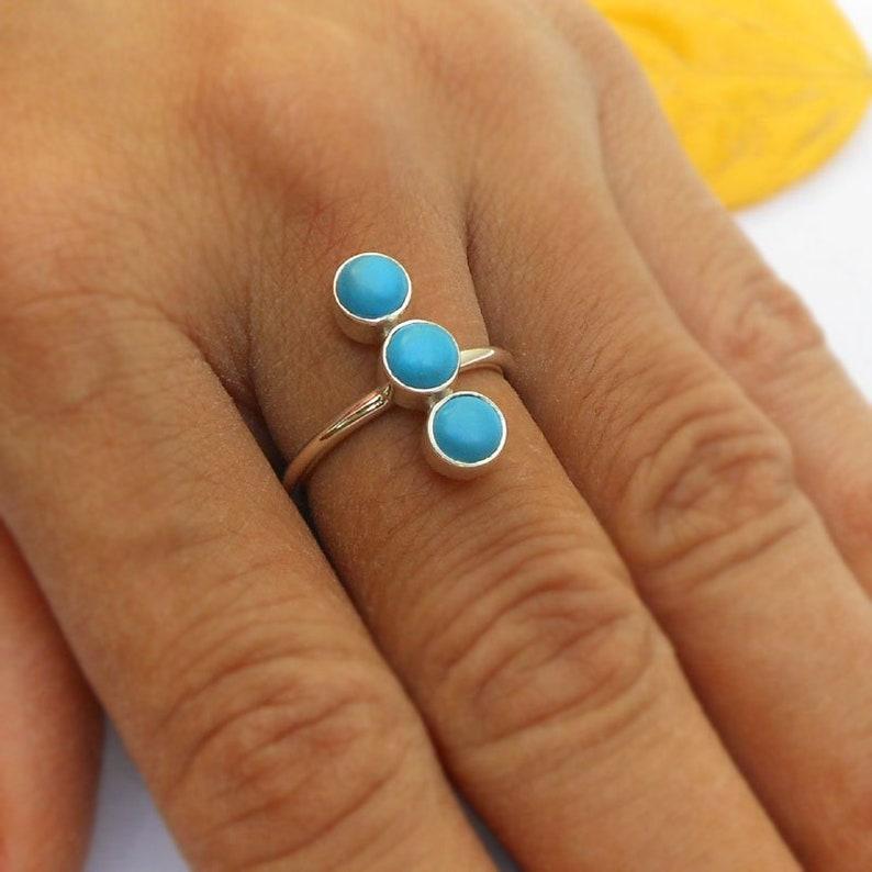 8457eeef983116 Arizona Sleeping Beauty Turquoise Ring Cabochon Turquoise | Etsy