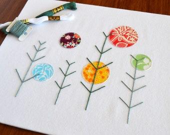 Winter Suns hand embroidery pattern, modern embroidery, appliqué pattern, embroidery, embroidery patterns, embroidery PDF, PDF pattern
