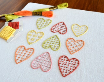 Heartfelt hand embroidery pattern, modern embroidery, heart embroidery, Valentine's, embroidery patterns, embroidery PDF, PDF pattern