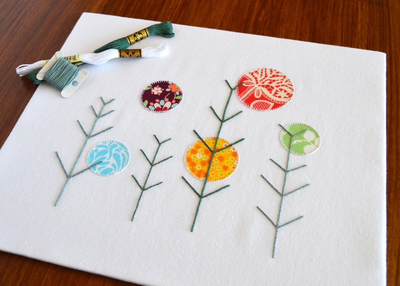 Winter suns hand embroidery pattern modern embroidery etsy