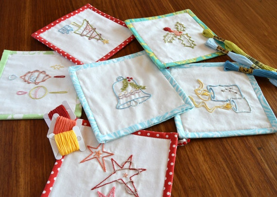 Festive Bunting Hand Embroidery Pattern Modern Embroidery Etsy