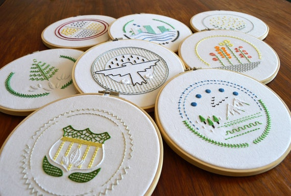 Patch Samplers Hand Embroidery Pattern Embroidery Samplers Etsy
