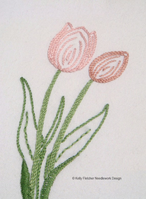 Easter Flowers Hand Embroidery Pattern Modern Embroidery Etsy