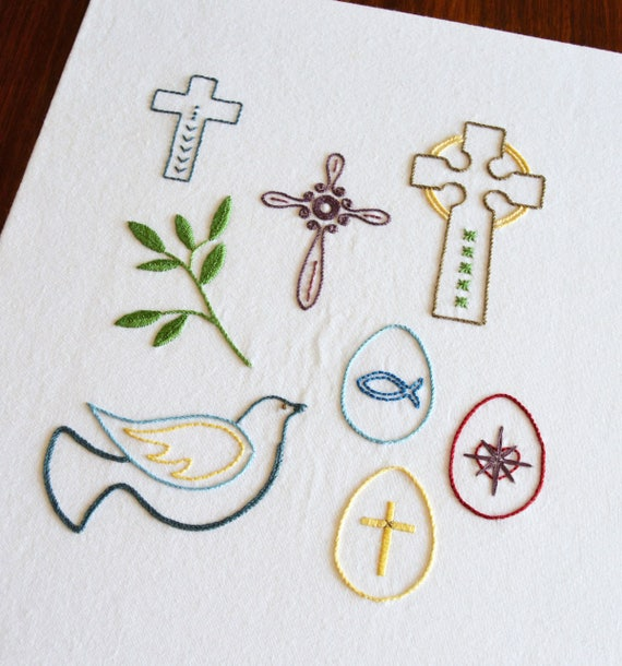 Easter Icons Hand Embroidery Pattern Modern Embroidery Etsy