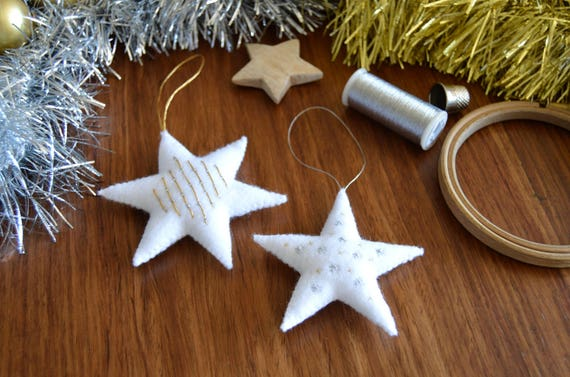 Felt Stars Hand Embroidery Pattern Modern Embroidery Etsy
