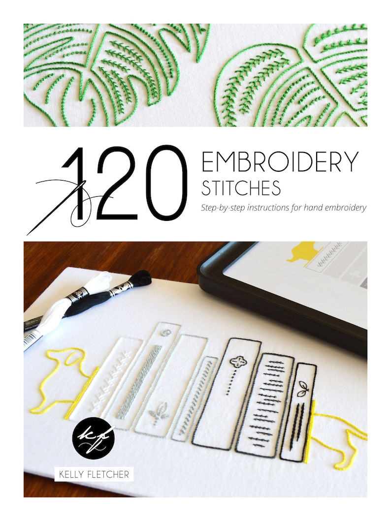 120 Embroidery Stitches ebook, hand embroidery stitch guide, modern  embroidery, PDF, digital download