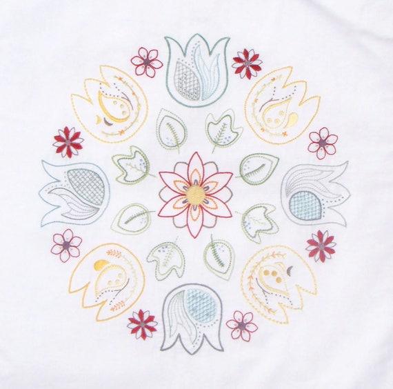 Pollen Modern Hand Embroidery Pattern Modern Embroidery Etsy