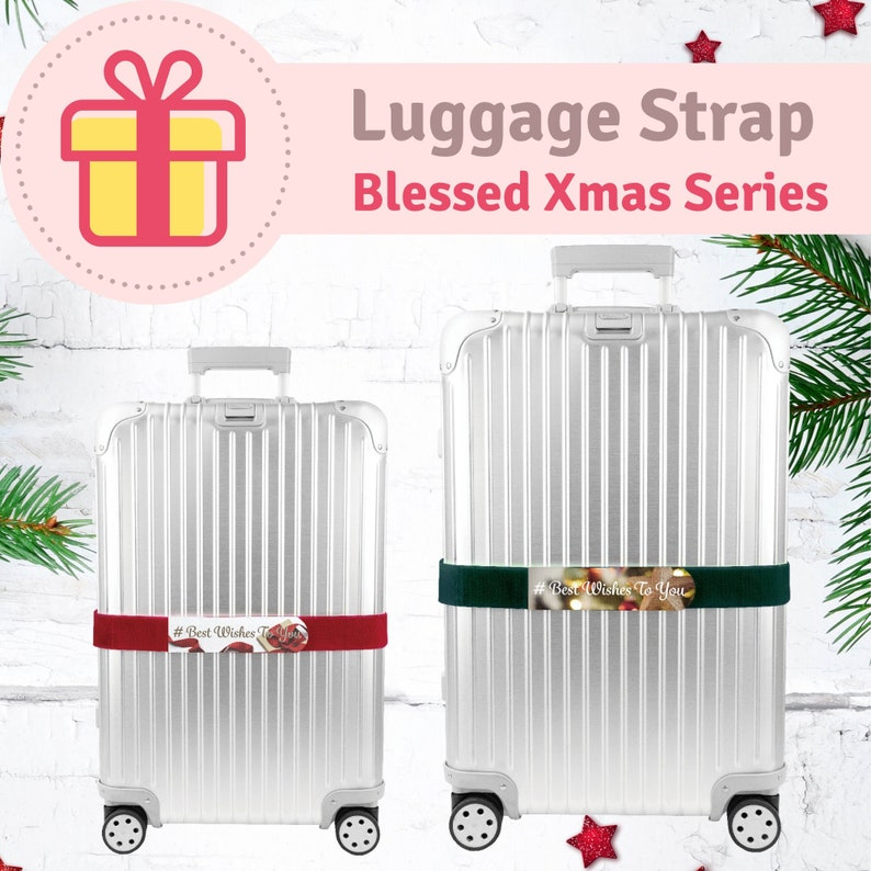 Adjustable Luggage Cinch Strap Christmas Present Best Choice Blessed Xmas Series
