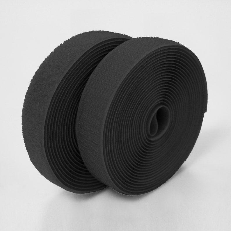 1 25 pair meters -120 Dark Gray Sew-On Hook and Loop Fastening Tape 25mm Width 984.25