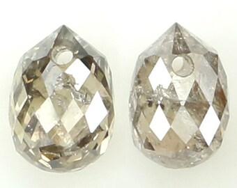 1.85 Ct Natural Loose Diamond Grey Yellow Color Diamond Emerald Cut Diamonds Radiant Diamond L9474 Rose Cut Rustic Diamond