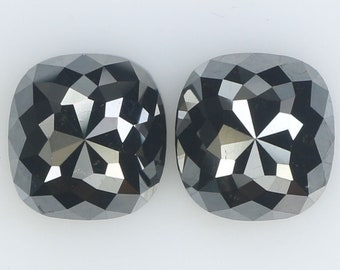 2.96 Ct Natural Loose Diamond Cushion Pair Black Color 2 Pcs KR2159