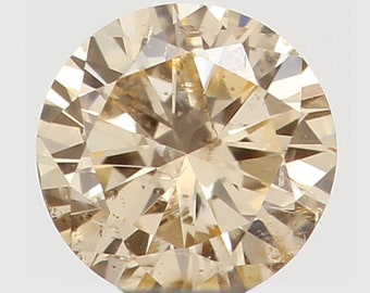 1.21 Ct Natural Salt N Pepper Diamond Round Brilliant Cut Loose Diamond Round Rose Cut Diamond For Jewels Natural Orange Color Diamond