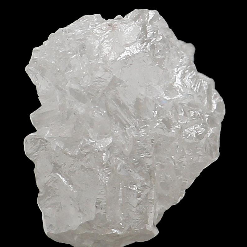 Carat Q96 Natural Loose Diamonds Raw Rough Silver Gray I3 Clarity 1 Pcs 1.50