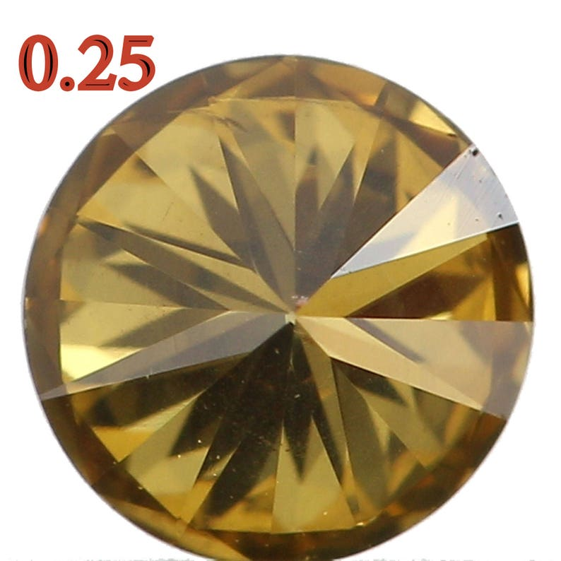 Natural Loose Diamond Round Fancy Color SI1 Clarity 3.90 MM 0.25 Ct KR668