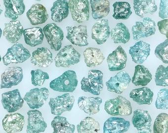 Natural Loose Diamond Rough Blue Color Drilling Uncut Rough 5.00 Ct Lot 1.50 to 2.50MM Q24
