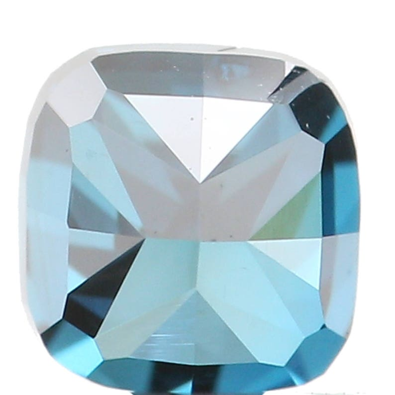 Natural Loose Diamond Cushion Blue Color SI1 Clarity 3.10 MM 0.22 Ct L5922
