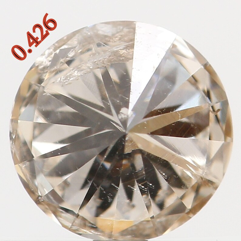 Natural Loose Diamond Round Brown Color SI2 Clarity 4.90 MM 0.426 Ct L5254