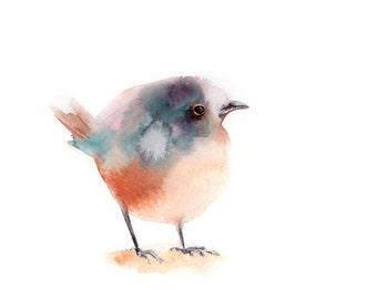 Minimalist bird Original watercolor painting, bird painting white background, modern minimalist painting of bird