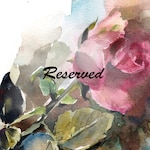 Reserved for Kelli - bouquet custom painting, soft pastels painting, Made to Order