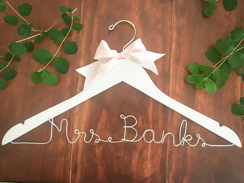 Custom Coathangers for Brides and Bridesmaids