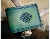 Green endless knot leathe...