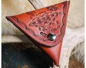 Stamped leather coin purs...