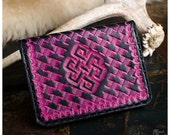 Pink endless knot leather...