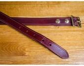 Beveled mahogany leather ...
