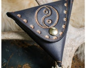 Black yin yang leather co...