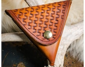Basketweave leather coin ...