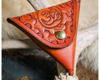 Aum ॐ leather coin purse