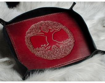 Yggdrasil / Tree of Life Leather Valet Tray