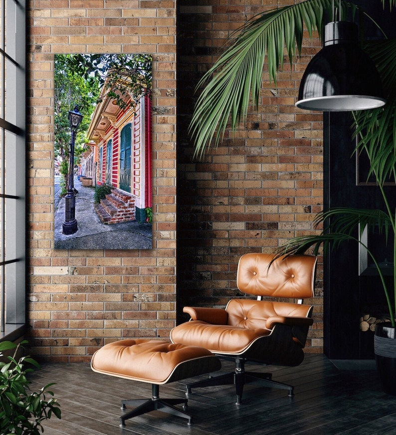 New Orleans Art CROOKED LAMP NOLA Doors Architecture New Orleans Photography Doors Shutters Cradled Deep Wood Panel