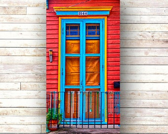 New Orleans Door Art BEAD FENCE French Quarter Doors - Architecture - Photography -Doors - Mardi Gras - Historic Building- Birch Boxes- Wood