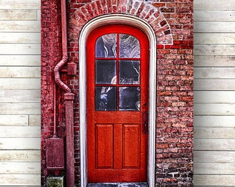 New Orleans Art - RED JULIA - Warehouse District Doors - Architecture - Photography -Doors-Shutters- Historic Building- Birch Boxes- Wood