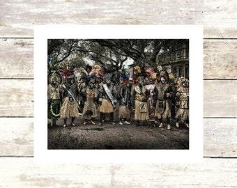 New Orleans Art THE TRAMPS Zulu Krewe on Mardi Gras Fine Art Photograph Limited Edition of 250 Mardi Gras photography Louisiana Art