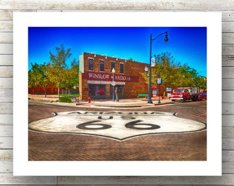 STANDING on the CORNER- Winslow Arizona - Route 66 - Landscape Photography - Fine Art Photograph-Limited Edition of 250