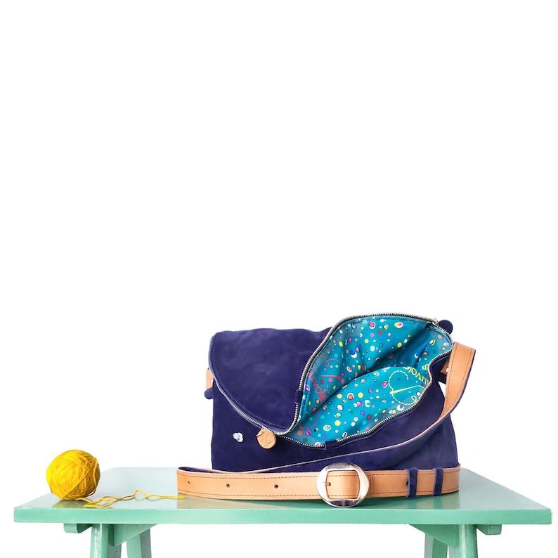 Zefiro genuine leather handbags/ boho crossbody bag/ sling image 0
