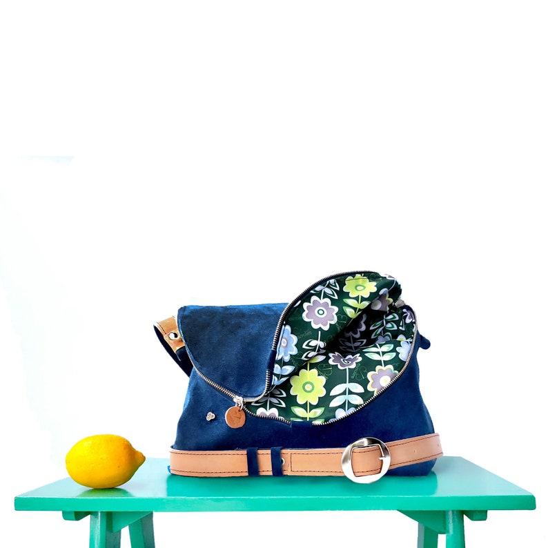 Zefiro genuine leather handbags/ boho crossbody bag/ sling bag image 0