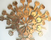 Lot of 39 Vintage Sargent Uncut Brass Keys - FREE Shipping in the USA
