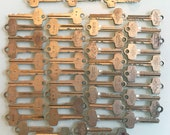 Lot of 47 Vintage Brass Keys - FREE Shipping in the USA