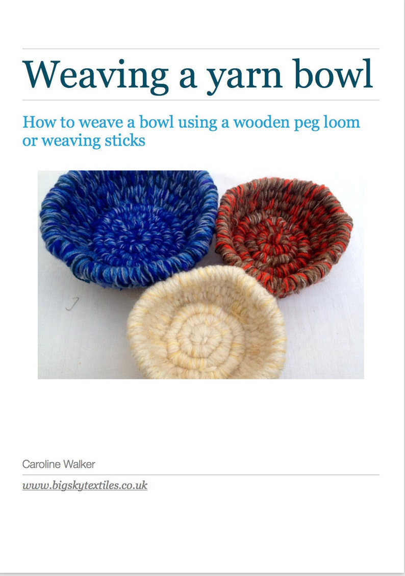 PDF e-booklet: Weaving a yarn bowl using weaving sticks and image 0