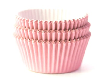 Solid Light Blush Pink Cupcake Liners