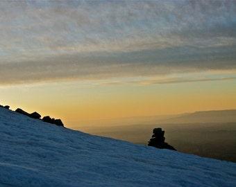 "Spanish Peaks Dreamy landscape print Mountains Snow ""Hiking Colorado"""