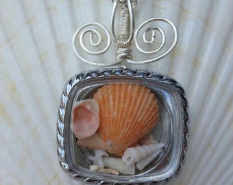 Fort Pickens Shells Repurposed Watch Necklace