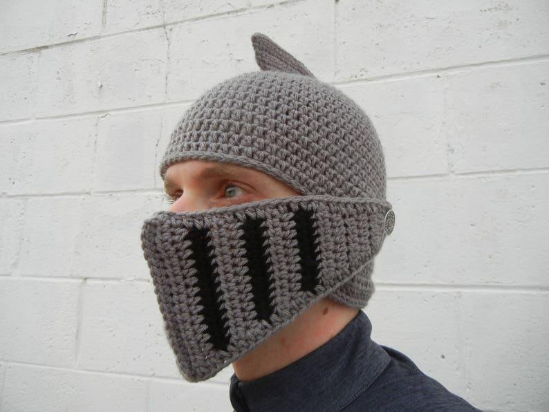 Knight/'s Helmet w Detachable Visor Crochet Pattern