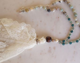 Lace tassel necklace