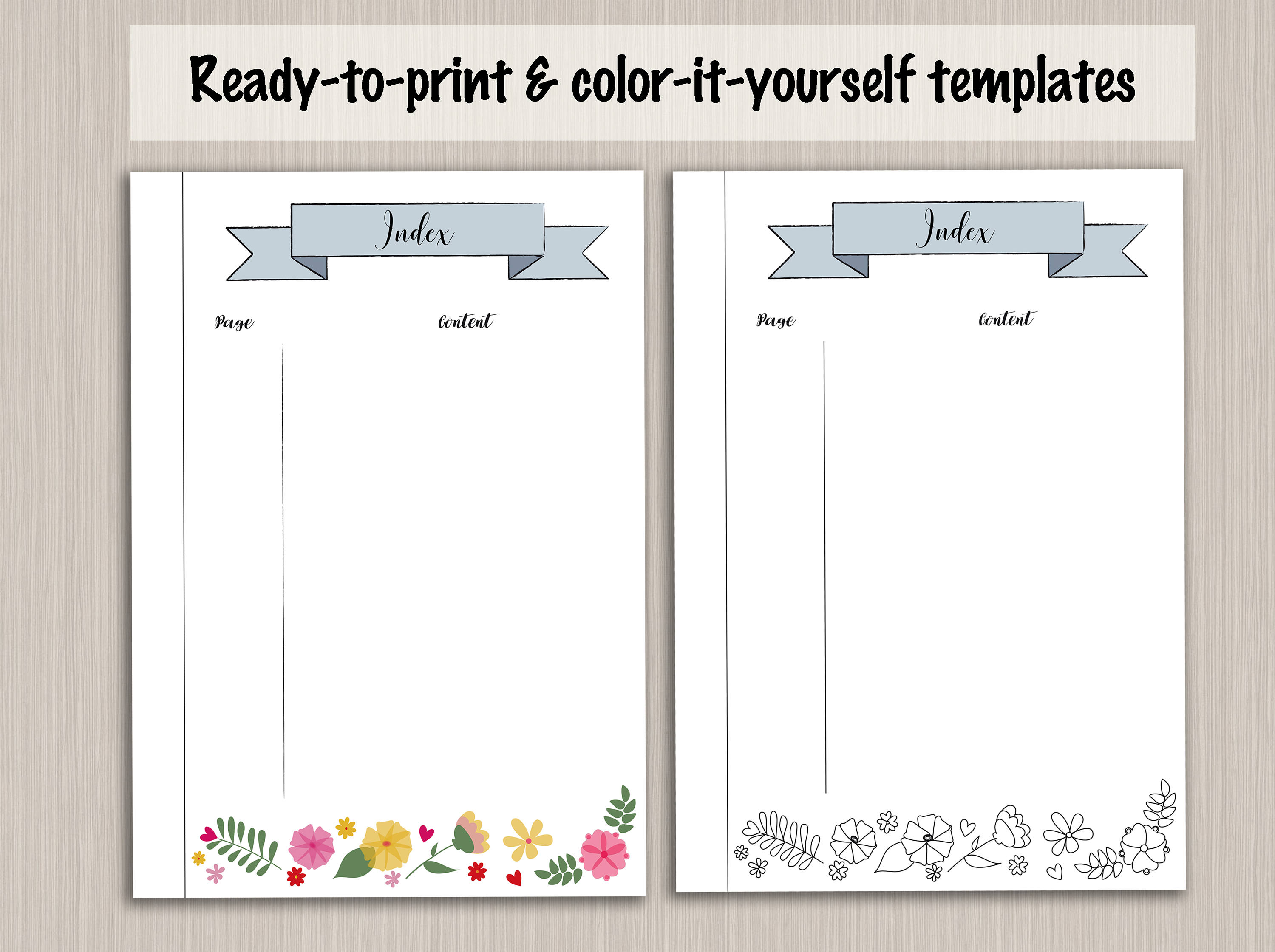 picture regarding Bullet Journal Printable Pages titled Bullet magazine index template - bullet magazine internet pages electronic PDF bujo - bullet magazine printable bullet magazine template package beginner pack