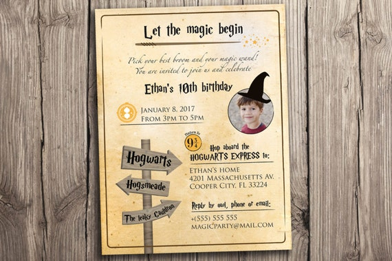 Harry Potter Party Invitation Printables